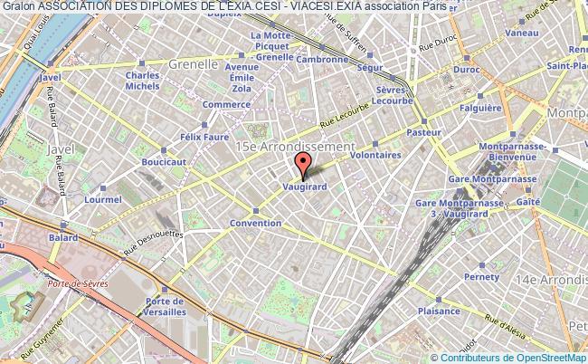 plan association Association Des Diplomes De L'exia.cesi - Viacesi.exia Paris
