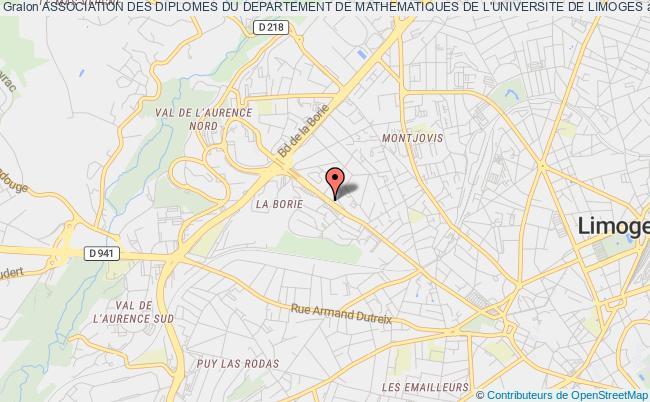 plan association Association Des Diplomes Du Departement De Mathematiques De L'universite De Limoges