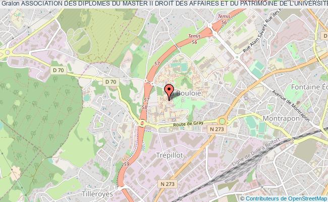 plan association Association Des Diplomes Du Master Ii Droit Des Affaires Et Du Patrimoine De L'universite De Franche-comte