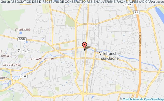 plan association Association Des Directeurs De Conservatoires En Auvergne-rhone-alpes (adicara)