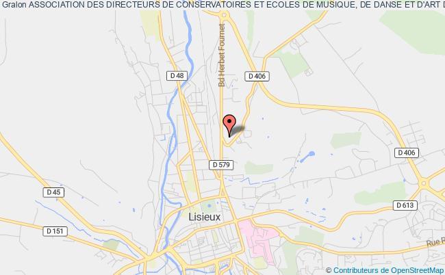 plan association Association Des Directeurs De Conservatoires Et Ecoles De Musique, De Danse Et D'art Dramatique Calvados - Orne - Manche