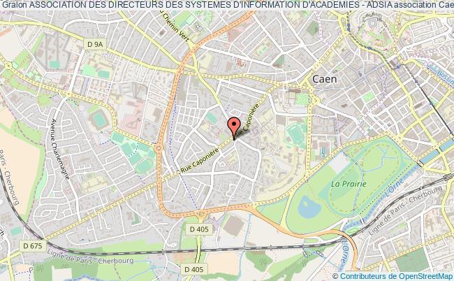 plan association Association Des Directeurs Des Systemes D'information D'academies - Adsia Caen
