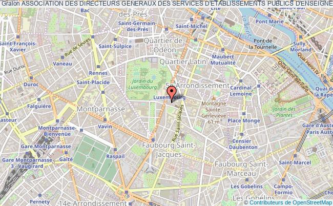 plan association Association Des Directeurs Generaux Des Services D'etablissements Publics D'enseignement Superieur Paris