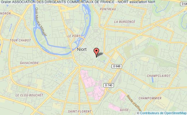 plan association Association Des Dirigeants Commerciaux De France - Niort