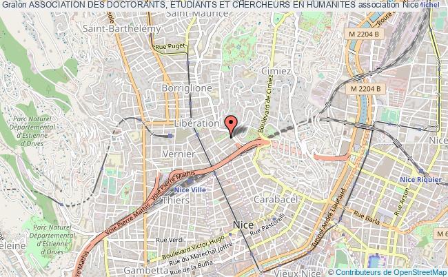 plan association Association Des Doctorants, Etudiants Et Chercheurs En Humanites Nice