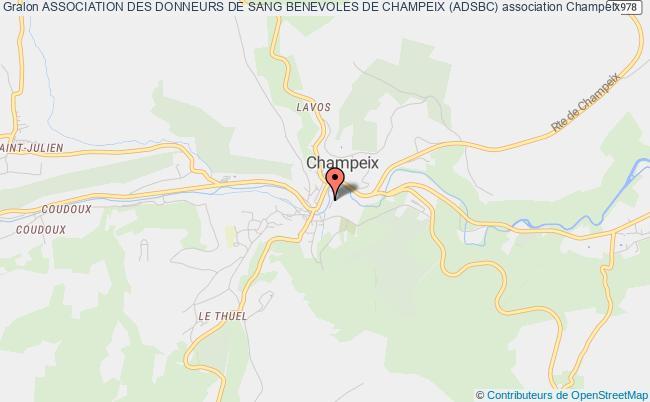 plan association Association Des Donneurs De Sang Benevoles De Champeix (adsbc)