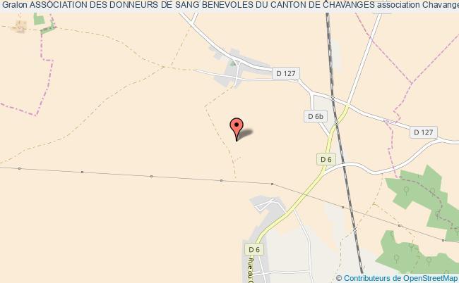 plan association Association Des Donneurs De Sang Benevoles Du Canton De Chavanges