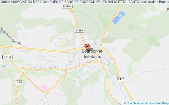 plan association Association Des Donneurs De Sang De Bourbonne-les-bains Et Du Canton Bourbonne-les-Bains