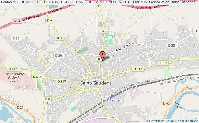 plan association Association Des Donneurs De Sang De Saint-gaudens Et Environs Saint-Gaudens