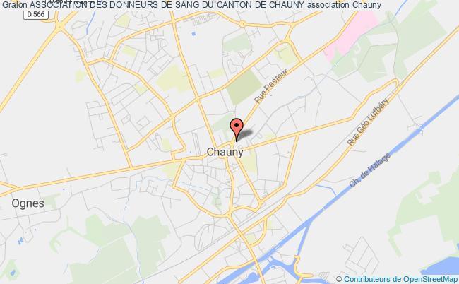 plan association Association Des Donneurs De Sang Du Canton De Chauny Chauny