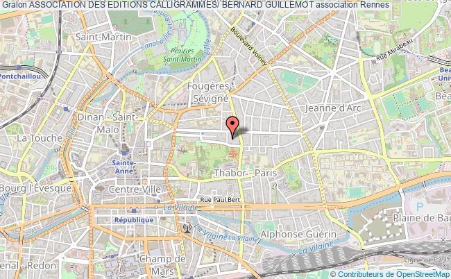 plan association Association Des Editions Calligrammes/ Bernard Guillemot Rennes