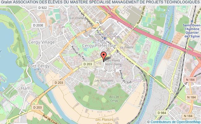 plan association Association Des ÉlÈves Du MastÈre SpÉcialisÉ Management De Projets Technologiques Cergy