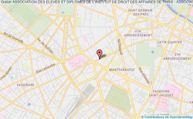 plan association Association Des Eleves Et Diplomes De L'institut De Droit Des Affaires De Paris - Association De L'ida De Paris Paris