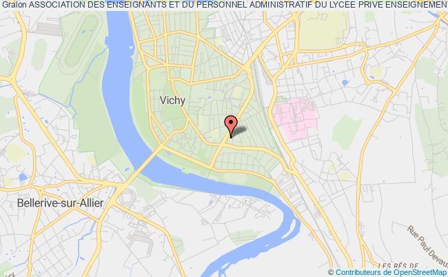 plan association Association Des Enseignants Et Du Personnel Administratif Du Lycee Prive Enseignement Superieur  De Vichy