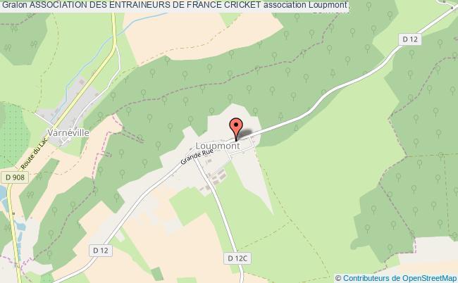 plan association Association Des Entraineurs De France Cricket