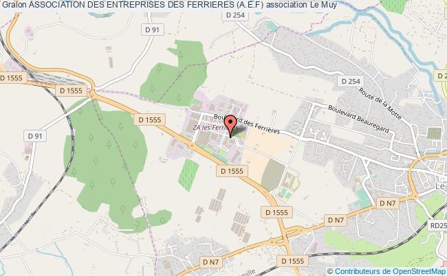 plan association Association Des Entreprises Des Ferrieres (a.e.f) Le Muy