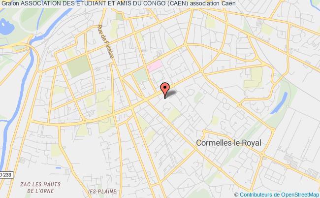 plan association Association Des Etudiant Et Amis Du Congo (caen) Caen