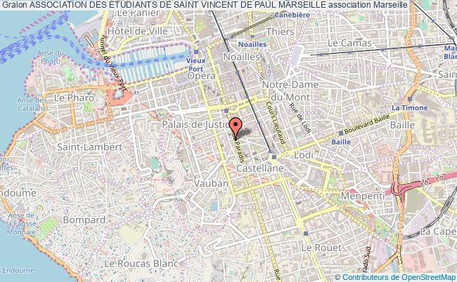 plan association Association Des Étudiants De Saint Vincent De Paul Marseille
