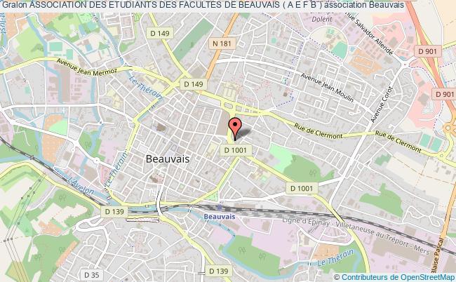 plan association Association Des Etudiants Des Facultes De Beauvais ( A E F B ) Beauvais