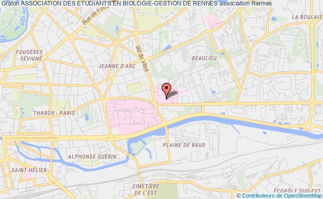 plan association Association Des Etudiants En Biologie-gestion De Rennes