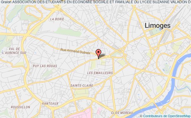 plan association Association Des Etudiants En Economie Sociale Et Familiale Du Lycee Suzanne Valadon De Limoges