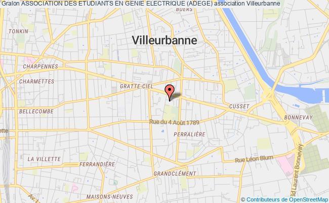 plan association Association Des Etudiants En Genie Electrique (adege)