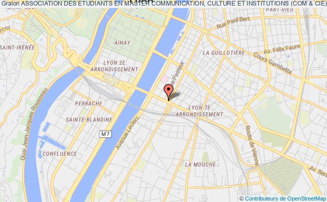 plan association Association Des Etudiants En Master Communication, Culture Et Institutions (com & Cie)