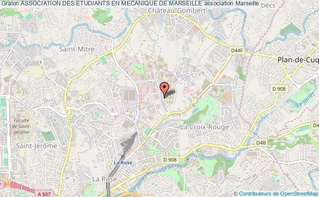 plan association Association Des Etudiants En Mecanique De Marseille
