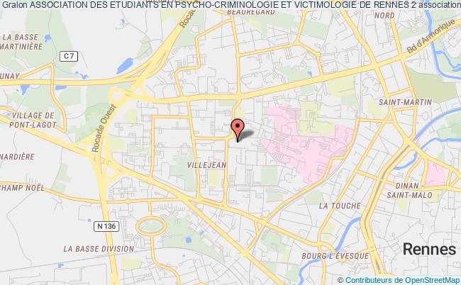 plan association Association Des Etudiants En Psycho-criminologie Et Victimologie De Rennes 2
