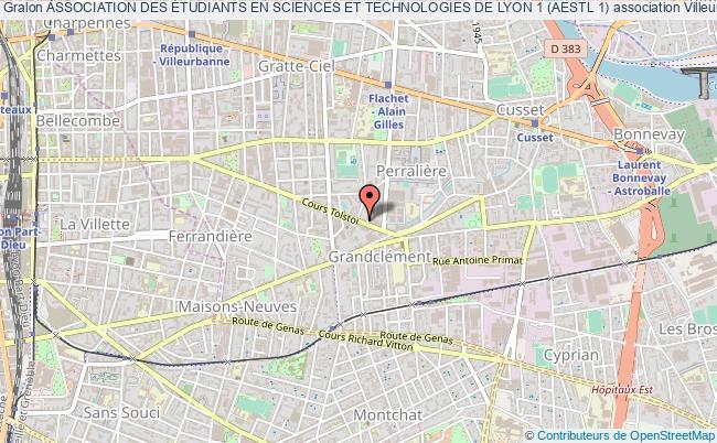 plan association Association Des Étudiants En Sciences Et Technologies De Lyon 1 (aestl 1)