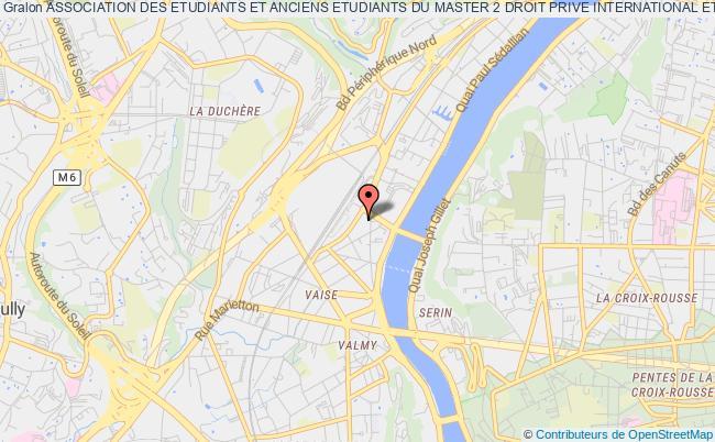 plan association Association Des Etudiants Et Anciens Etudiants Du Master 2 Droit Prive International Et Compare De L'universite Jean Moulin - Lyon 3