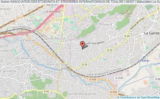 plan association Association Des Etudiants Et Stagiaires Internationaux De Toulon ( Aesit )