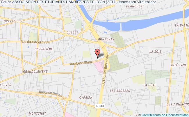 plan association Association Des Étudiants HandicapÉs De Lyon (aÉhl)