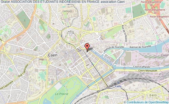 plan association Association Des Etudiants Indonesiens En France Caen