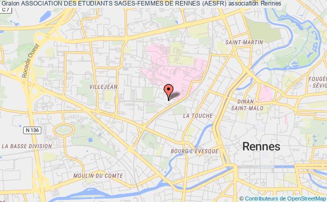 plan association Association Des Etudiants Sages-femmes De Rennes (aesfr) Rennes cedex
