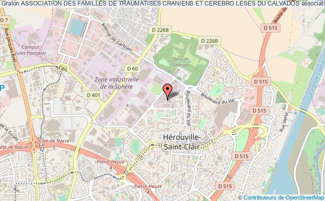 plan association Association Des Familles De Traumatises Craniens Et Cerebro Leses Du Calvados