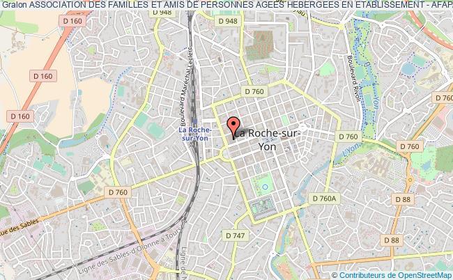 plan association Association Des Familles Et Amis De Personnes Agees Hebergees En Etablissement - Afapahe La    Roche-sur-Yon