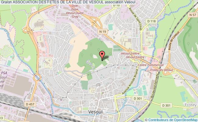 plan association Association Des Fetes De La Ville De Vesoul Vesoul