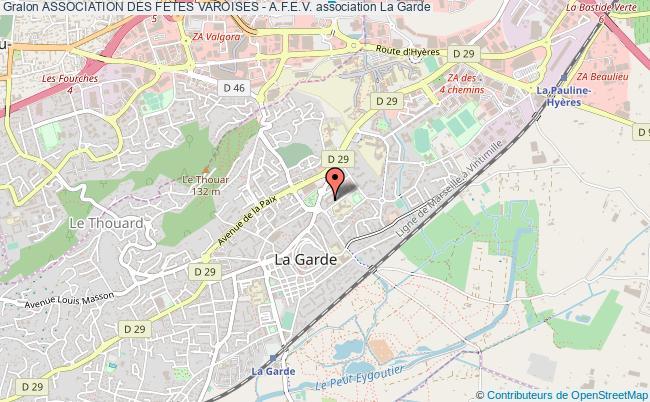 plan association Association Des Fetes Varoises - A.f.e.v.