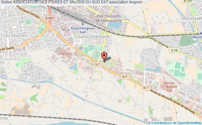 plan association Association Des Foires Et Salons Du Sud Est