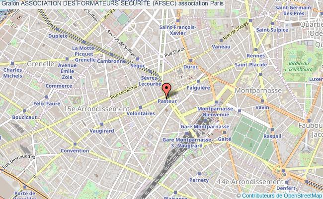 plan association Association Des Formateurs Securite (afsec) Paris