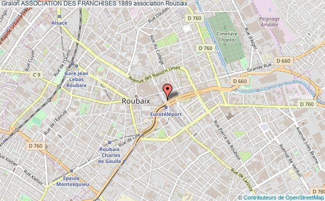 plan association Association Des Franchises 1889 Roubaix