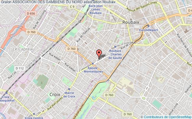 plan association Association Des Gambiens Du Nord Roubaix