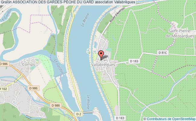 plan association Association Des Gardes-pÊche Du Gard