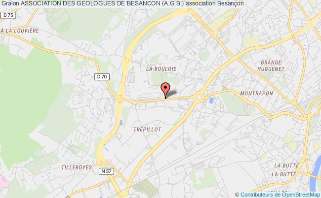 plan association Association Des Geologues De Besancon (a.g.b.) Besançon