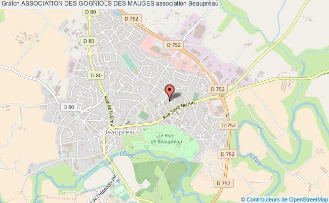 plan association Association Des Gogniols Des Mauges