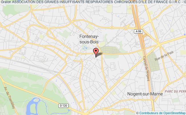 plan association Association Des Graves Insuffisants Respiratoires Chroniques D'ile De France G.i.r.c - Idf