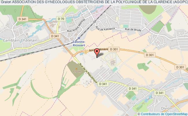 plan association Association Des GynÉcologues ObstÉtriciens De La Polyclinique De La Clarence (agopc)