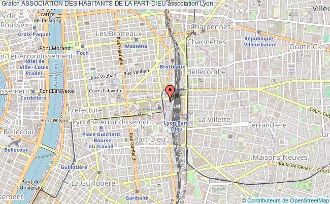plan association Association Des Habitants De La Part-dieu Lyon