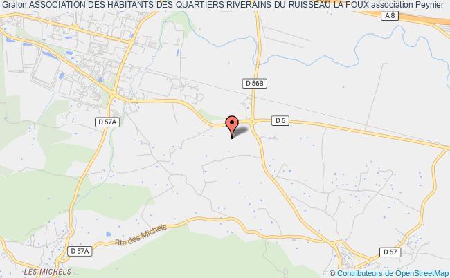 plan association Association Des Habitants Des Quartiers Riverains Du Ruisseau La Foux